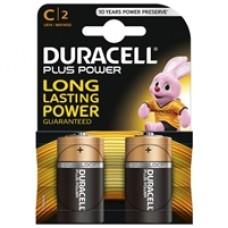 Duracell Plus Power Alkaline Pack of 2 C Batteries