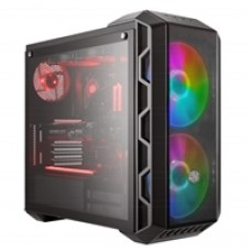 Cooler Master MasterCase H500 ARGB Mid Tower 2 x USB 3.0 / 2 x USB 2.0 Tempered Glass Side Window Panel Iron Grey Case with Addressable RGB LED Fans