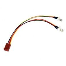 3-Pin Fan (F) to 2 x 3-Pin Fan (M + M) 0.15m OEM Internal Splitter Cable