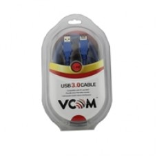 VCOM USB 3.0 A (M) to USB 3.0 A (F) 1.8m Blue Retail Packaged Extension Data Cable