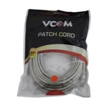 VCOM RJ45 (M) to RJ45 (M) CAT5e 3m Grey Retail Packaged Moulded Network Cable