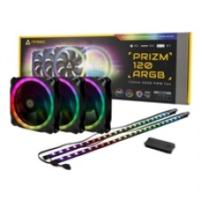 Antec Prizm 120 ARGB LED Fans 3 in 1 Pack with Fan Controller & ARGB LED Strips