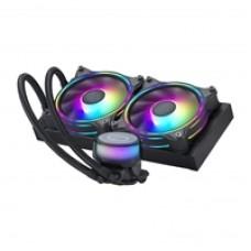 Cooler Master MasterLiquid ML240 Illusion Universal Socket 240mm PWM 1800RPM Addressable Gen 2 RGB LED AiO Liquid CPU Cooler with Wired ARGB Controller