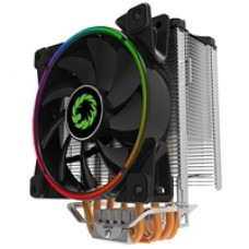 GameMax Gamma 500 Universal Socket 120mm PWM 1800RPM Addressable RGB LED Fan CPU Cooler with Wired Addressable RGB Controller