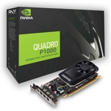 NVIDIA Quadro P1000V2 - Graphics card - Quadro P1000 - 4 GB GDDR5 - PCIe 3.0 x16 Full ATX with Low Profile - 4 x Mini DisplayPort