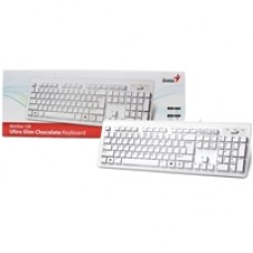 Genius SlimStar 130 USB Desktop Slim Design White Keyboard