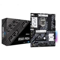 ASRock B560 PRO4 Intel Socket 1200 ATX HDMI/DisplayPort M.2 USB 3.2 Gen1 RGB Motherboard