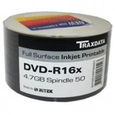 Ritek Traxdata DVD-R 16X 600PK (12 x 50) Boxed Printable