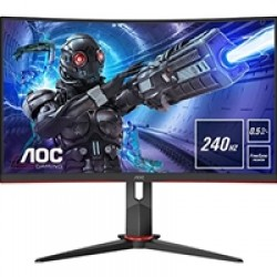 "AOC C27G2ZU/BK 27"" LED Widescreen HDMI/ DisplayPort Freesync 0.5ms Speakers Frameless Curved Monitor"