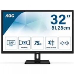 "AOC Q32E2N 31.5"" QHD 75Hz 4ms HDMI / Display Port  inc Speakers IPS Monitor"