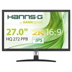 "Hannspree HQ272PPB 27"" IPS WQHD 2K Display Port / HDMI with Speakers Black Monitor"