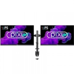 "2 X piXL 23"" IPS Full HD Frameless Monitors with FREE piXL Double Monitor Arm Bundle"