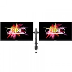 "2 X piXL 24"" Full HD Frameless Monitors with FREE piXL Double Monitor Arm Bundle"