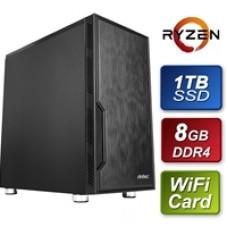 Antec AMD 3400G 3.7GHz Quad Core 8GB RAM 1TB SSD WiFi Card Prebuilt System