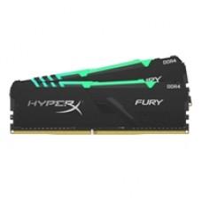 Kingston HyperX Fury RGB 64GB Black Heatsink (2x32GB) DDR4 2666MHz DIMM System Memory