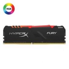 Kingston HyperX Fury RGB 8GB Black Heatsink (1 x 8GB) DDR4 3200MHz DIMM System Memory