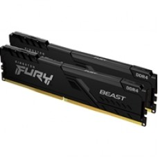 Kingston FURY Beast 16GB (2 x 8GB) 3600MHz DDR4 DIMM System Memory Black Heatsink