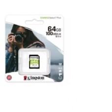 Kingston Canvas Select Plus  V30 64GB SD Class 10 UHS-I U3 Flash Card