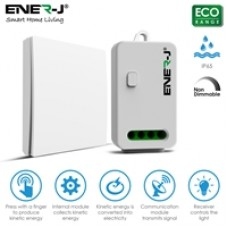 ENER-J Wireless Kinetic Switch Bundle Kit, 1 Gang Kinetic Switch and 500W RF Receiver