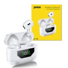 PREVO LZ-10 TWS Wireless Earbuds with Bluetooth 5.0 and Wireless Charging Case with Digital Display