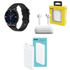 Outdoor and Fitness Bundle with Xiaomi MI IMILAB Smartwatch, Prevo X12 TWS Wireless Earbuds and Prevo SP3012 10000mAh Slim Powerbank